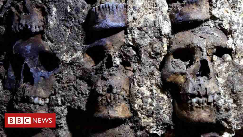 Aztec skull tower: Archaeologists unearth new sections in Mexico City