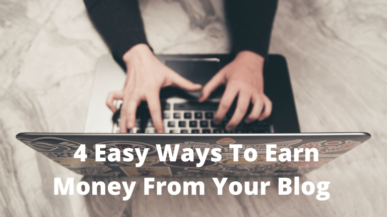 Blog Income – 4 Easy Ways To Earn Money From Your Blog
